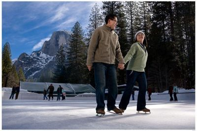 Yosemite's Curry Village Ice Rink is Winter Romance